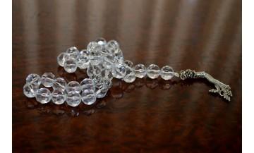 Fasetalı Kristal Kuvars Tesbih