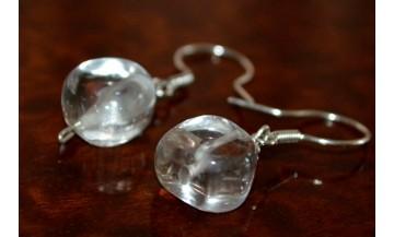 Kristal Kuvars Gümüş Küpe
