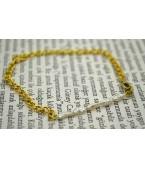 Tatlısu İncisi Sarı Zincirli Bileklik
